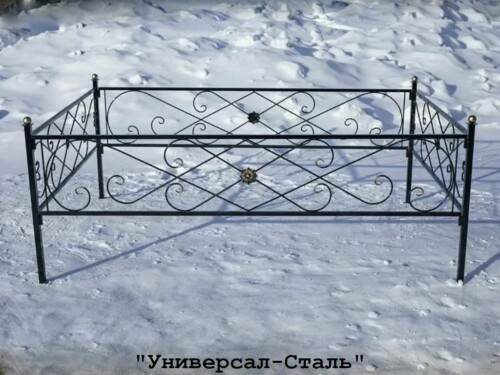 Кованая ограда №86 — фото