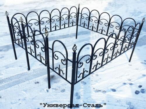 Кованая ограда №9 — фото